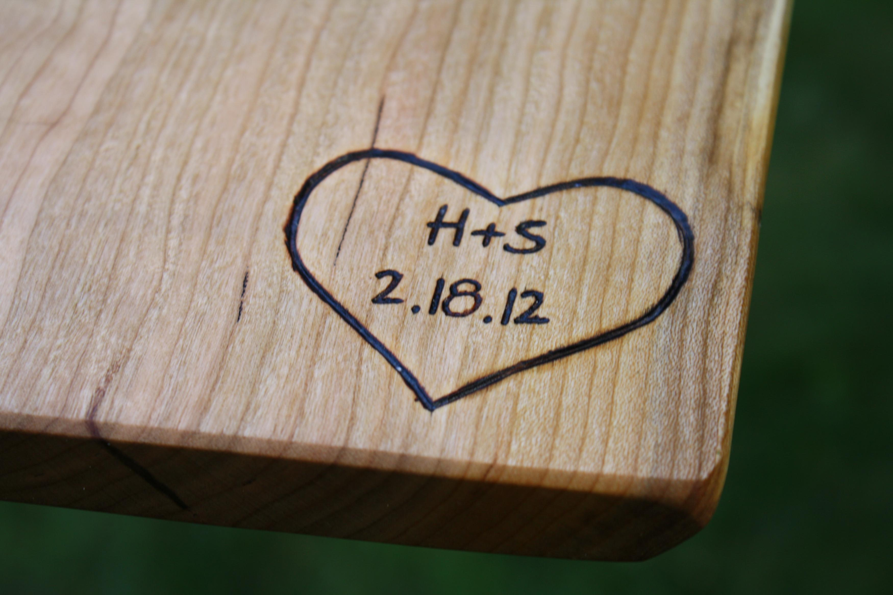 ... Wedding Gifts - Wood Anniversary Gifts - Personalized Kitchen- Hand